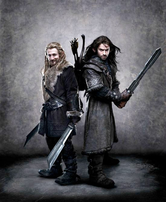 New Photo of The Hobbit Dwarves Fili and Kili - Real BIG
