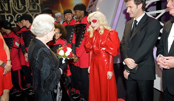 Lady Gaga Meets The Queen Of England